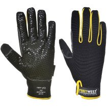 Portwest A730 Supergrip - High Performance Glove - Black with Yellow Trim