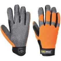 Portwest A735 Comfort Grip - High Performance Glove - Orange/Grey