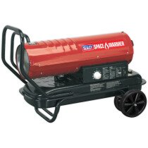 Sealey AB7081 Space Warmer Paraffin, Kerosene & Diesel Heater 70,000Btu/hr With Wheels