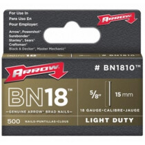 "Arrow ABN1810 Brad Nails15mm (5/8"") Steel Brown HD (Pack of 1,000)"