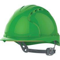 JSP AJF160-000 Green JSP EVO3 AFJ160 Comfort Plus One Touch Vented Safety Helmet