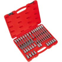 "Sealey AK2198 Ribe Socket Bit Set 32 Piece 1/2"" Drive"
