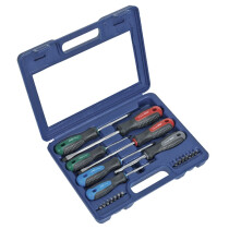 Sealey AK5043 Screwdriver Set with Carry-Case 21pc PowerMAX