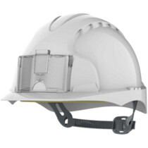 JSP APA030-000-100 EVO 2 Unvented Badge Integrated Identity One Touch White Safety Helmet