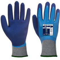 Portwest AP81 Liquid Pro HR Cut Glove Cut Resistant Gloves - Blue