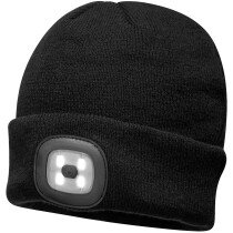 Portwest B028 Rechargeable Twin LED Beanie Hat with Torch - Various Colours Available
