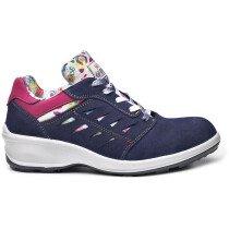 Portwest B0323 Ladies Miss Base Kate Safety Shoe - Steel Toecap - Blue/Pink