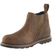 Buckbootz B1555SM Brown Leather Goodyear Welted Safety Dealer Boot SB P HRO SRC