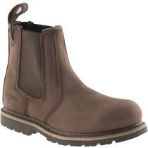 Buckbootz B1150SM Buckflex Brown Leather Safety Dealer Boot SB P HRO SRA