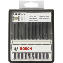 Bosch 2607010540 Robust Line 10 Piece Wood Jigsaw Blade Mixed Set