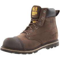 Buckbootz B301SM Brown Leather Safety Boot SB P HRO SRC