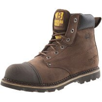 Buckbootz B301SM Brown Leather Safety Boot SB P HRO SRC
