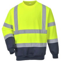 Portwest B306 Two Tone Hi-Vis Sweatshirt - Available in Yellow and Orange