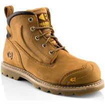Buckbootz B650SM Honey Nubuck Leather Goodyear Welted Safety Boot SB P HRO SRC
