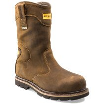 Buckbootz B701SMWP Hard as Nails Brown Safety Rigger Boot S3 HRO WRU SRC