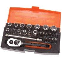 Bahco SL25  Socket Set 1/4in Drive Metric 25 Piece BAHSL25