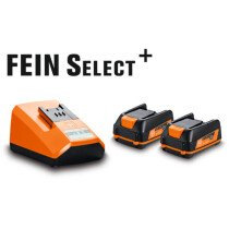 Fein 12V Compact Battery Starter Set includes 2 x 2.5ah 12v Batteries & Charger