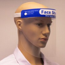 Lawson-HIS BB-FC202.F01 Clear Face Shield Visor with Cushioned Headband 330x220x0.35mm