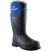 Buckbootz BBZ5666 Ladies PropTop Non-Safety Black/Blue Wellington Boot