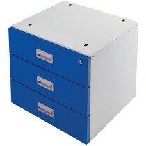 QMP BEDR04043BXX 435 x 420 x 420mm Three Drawer Unit Only
