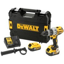 DeWalt DCD996P2-GB 18V XR Brushless Premium Combi Drill with 2x 5.0Ah Batteries in TSTACK Carry Case