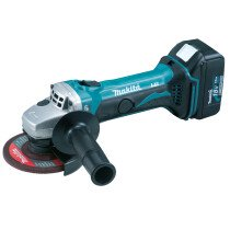 Makita DGA452RMJ 18V 115mm Angle Grinder with 2x 4.0Ah Batteries in MakPac Stacking Case