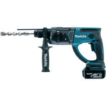 Makita DHR202RTJ 18V SDS Hammer with 2 Batteries in Makpac Case