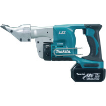 Makita DJS130RMJ 18v Metal Shear 1.3mm LXT with Batteries, Charger, Case and Hex Wrench