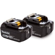 Makita Twinpack 2 x BL1850B 18v - 5.0Ah Batteries with Fuel Gauge