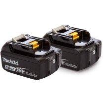 Makita Twinpack 2 x BL1850B 18v - 5.0Ah Batteries with Fuel Gauge