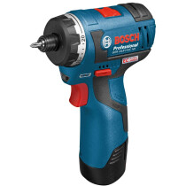 Bosch GSR 12V-20 HX 12V Brushless Drill/Driver wth Hex Bit Holder and 2x2.0Ah Batteries Batteries in L-Boxx