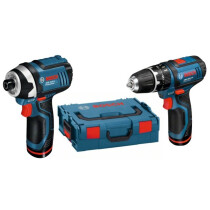 Bosch GSB 12V-15+GDR 12V-105 12V 2 Speed Combi Drill+Impact Driver with 2x 2.0Ah Batteries in Bag
