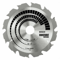 Bosch 2608640633 190x30mm 12T Circular saw blade (wood with nails)