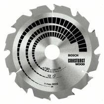 Bosch 2608641200 184x16mm 12T Circular saw blade (Wood with Nails)