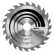 Bosch 2608640602 Optiline Wood Blade 24 tooth 165 x 2.6 x 30/20mm