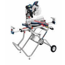"""Bosch GCM12GDL + Stand 12""""/305mm Axle Glide Double Bevel Sliding Mitre Saw With Stand"""