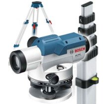 Bosch GOL20D +Tripod and Rod Optical Level with 20x Magnification +Tripod and Measuring Rod