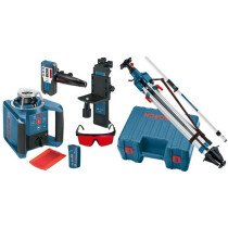 Bosch GRL300HV + Tripod (1.65m) and Rod 300m Professional Rotation Laser Level Kit with Tripod and Rod