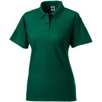 "Russell 539F Ladies 65/35 Hard Wearing Pique Polo Bottle Green Medium (Size 12, 34""-36"" Bust)"