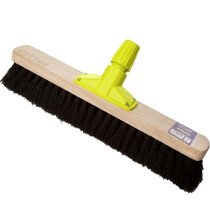 "Cottam BPL00011 Rapid Lock Twist and Lock 18"" Soft Bristle Coco Sweeping Broom Head"
