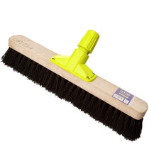 "Cottam BPL00012 Rapid Lock Twist and Lock 18"" Stiff Bristle Bassine Sweeping Broom Head"