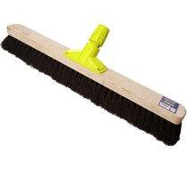 "Cottam BPL00013 Rapid Lock Twist and Lock 24"" Soft Bristle Coco Sweeping Broom Head"
