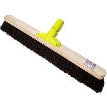 "Cottam BPL00014 Rapid Lock Twist and Lock 24"" Stiff Bristle Bassine Sweeping Broom Head"