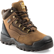 Buckbootz BSH002BR Buckshot 2 Hiker Brown Leather S3 Safety Boot HRO WRU SRC