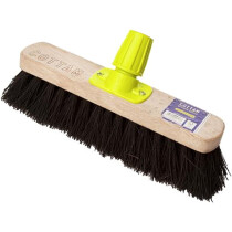 "Cottam BSB00007 Rapid Lock Twist and Lock 11"" Stiff Bristle Bassine Sweeping Broom Head"