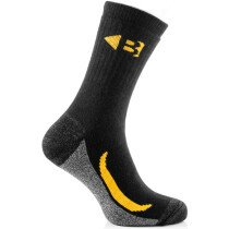 Buckbootz ZBSOKZCORDURABK Cordura Socks Pack of 6 Black