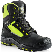Buckler Boots BVIZ1 Buckz Viz Black Leather/Hi-Viz Cordura S3 Non Metallic Lace/Zipper Safety Boot