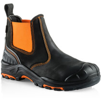 Buckler Boots BVIZ3 Buckz Viz Black Leather/Hi-Viz Cordura S3 Non Metallic Dealer Safety Boot
