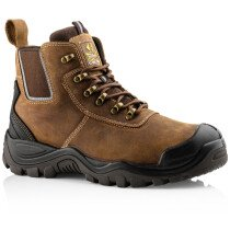 Buckbootz BHYB2BR Hybridz S3 Leather Safety Lace/Dealer Boot HRO WRU SRC