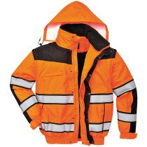 Portwest C466 Hi-Vis Classic Bomber Jacket  High Visibility - Various Colours Available
